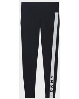 Mid-rise Cropped Legging With Logo