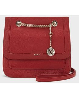 Chelsea Pebbled Leather Small Flap Crossbody