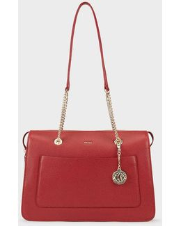 Chelsea Pebbled Leather Top Zip Tote