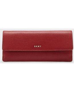 Sutton Textured Leather Slim Flap Wallet