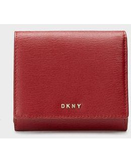 Sutton Textured Leather Trifold Wallet
