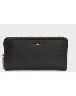 Sutton Textured Leather Large Zip Around Wallet