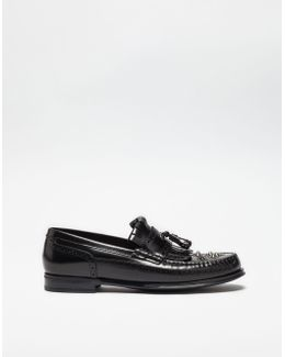Studded Leather Loafers