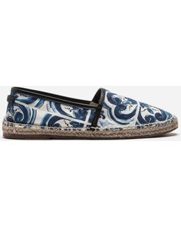 Espadrille In Printed Canvas