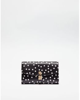 Dolce Polka Dot Dauphine Leather Clutch