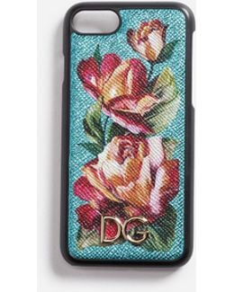 Iphone 7 Cover With Printed Leather Detail