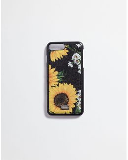 Iphone 7 Plus Printed Dauphine Leather Cover