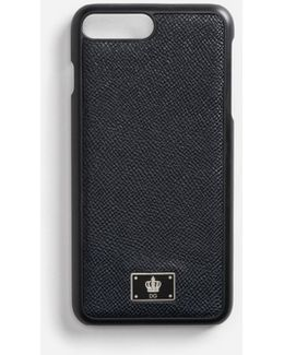 Iphone 7 Plus Cover With Dauphine Leather Detail