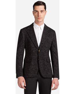 Micro-patterned Jersey Jacket