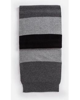 Scarf In Striped Cashmere