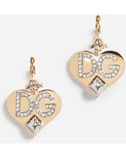 Earrings With Branded Pendants