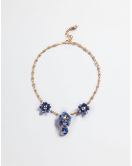 Necklace With Floral Accents