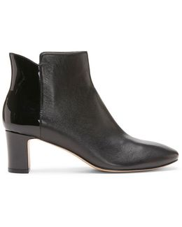 Nappa And Patent Leather Bootie