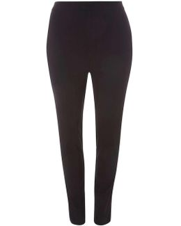 Dp Curves Black Bengaline Pull On Trousers