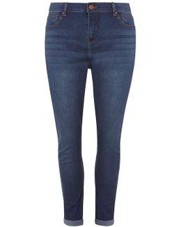 Dp Curve Mid Wash Boyfriend Jeans