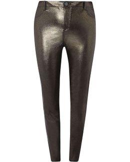Dp Curve Black Glitter Coated Jeans