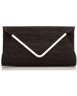 Quiz Mesh Envelope Clutch Bag