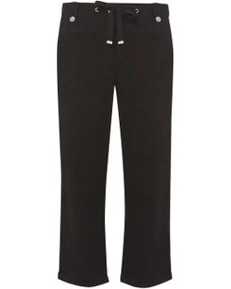 Tall Black Cropped Trousers
