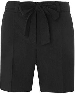 Tall Black Tie Waist Shorts
