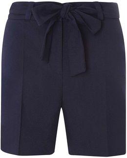 Tall Navy Tie Waist Shorts