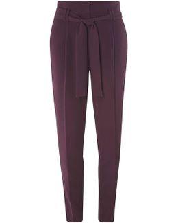 Tall Purple Paper Bag Tie Waist Trousers