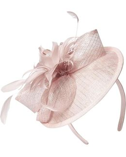 Blush Disc Flower Fascinator