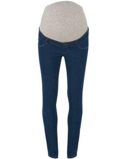 Mamalicious Maternity Blue Wash Bump Band Jeans