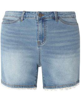 Juna Rose Crochet Denim Shorts
