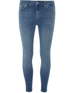"Vero Moda Blue High Low Hem 30"" Jeans"