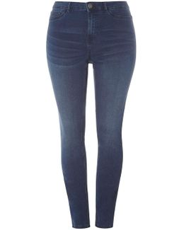 Juna Rose Curve Blue Slim Jeans