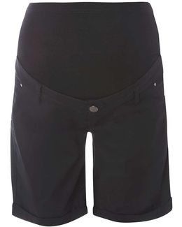Maternity Black Forever Fit Chino Shorts