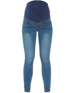 Maternity Black Vintage Super Skinny Jeans