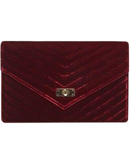 Burgundy Twist Lock Clutch Bag