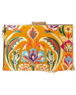 Yellow Oriental Box Clutch Bag