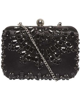 Black Jewel Box Clutch