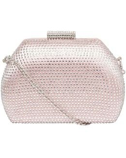 Blush Pink Gem Lock Clutch