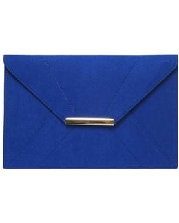 Cobalt Envelope Clutch Bag
