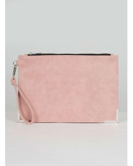 Chi Chi London Pink Zip Up Clutch Bag