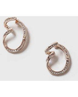 Crystal Twisted Earrings