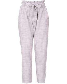 Izabel London Light Grey Tie Trousers