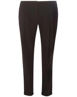 Black Pleat Naples Trousers