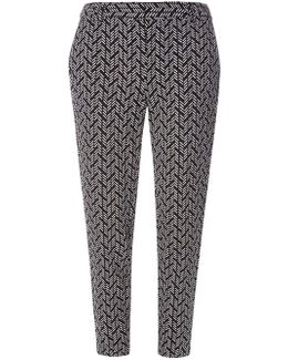 Black And Ivory Dash Trousers