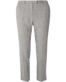 Herringbone Ankle Grazer Trousers