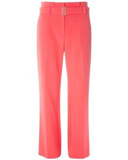 Pink Belt Paperbag Wide Leg Trousers