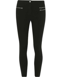 Black Skinny Zipped Trousers