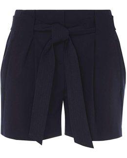 Navy Tie Waist Shorts