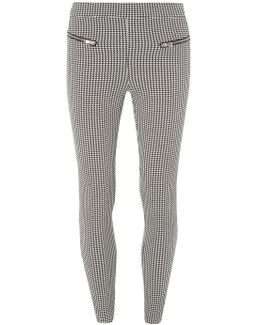 Black And White Dogstooth Skinny Trousers