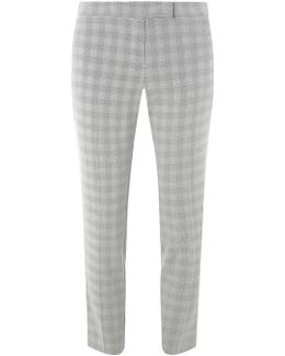 Black And White Prince Of Wales Check Suit Trousers