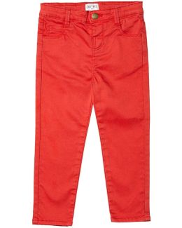 Girls Red Stretch Skinny Fit Jeans (18 Months - 6 Years)
