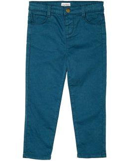 Girls Teal Blue Stretch Skinny Fit Jeans (18 Months - 6 Years)